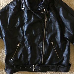 Free People black jacket with silver accents, M/L.